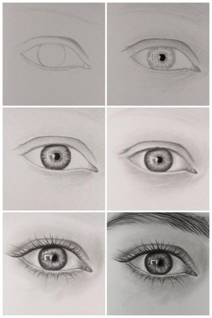 How to draw a realistic eye step by step