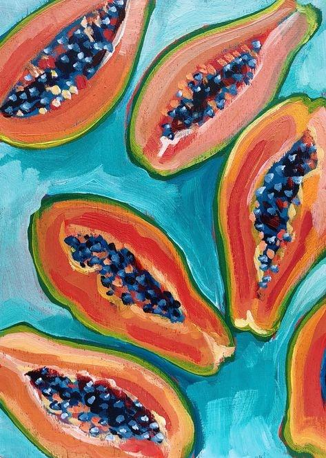 acrylic painting ideas for beginners fruit 8